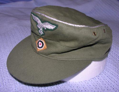 3rd Reich Luftwaffe Officer Field Cap Tropical