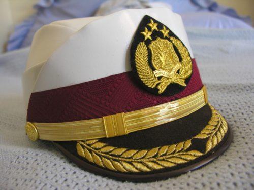 Indonesia Police Helmet Cap Senior Officer Female Summer