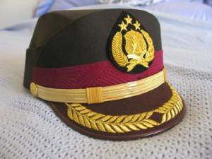 Indonesia Woman Senior Officer Helmet Hat Green 000