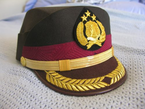Indonesia Police Helmet Cap Senior Officer Female