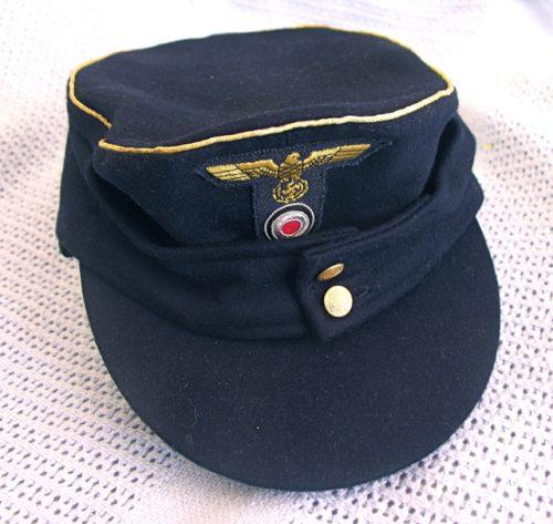 3rd Reich Navy Officer Field Cap M43