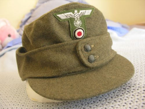 3rd Reich Army Enlisted Mountain Troops Field Cap