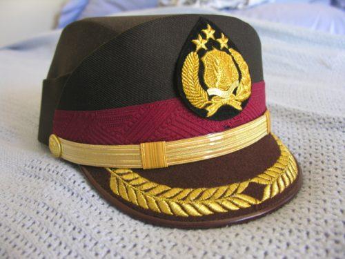 Indonesia Police Helmet Cap Senior Officer Female
